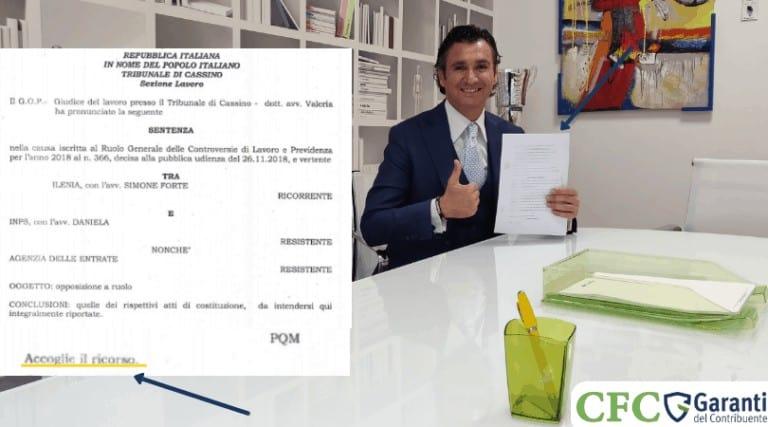 Carlo Carmine, Ilenia sentenza foto - CFC Legal Garanti Del Contribuente