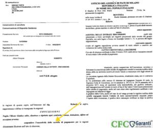 Sentenza Roberto-annulla il debito con ex Equitalia - CFC Legal Garanti Del Contribuente
