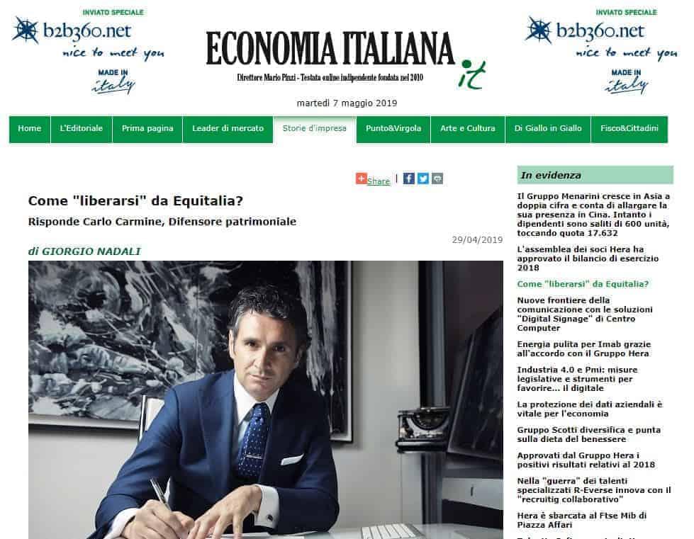 Carlo Carmine, Economia Italiana, Carlo Carmine, Difensore Patrimoniale - CFC Legal Garanti Del Contribuente