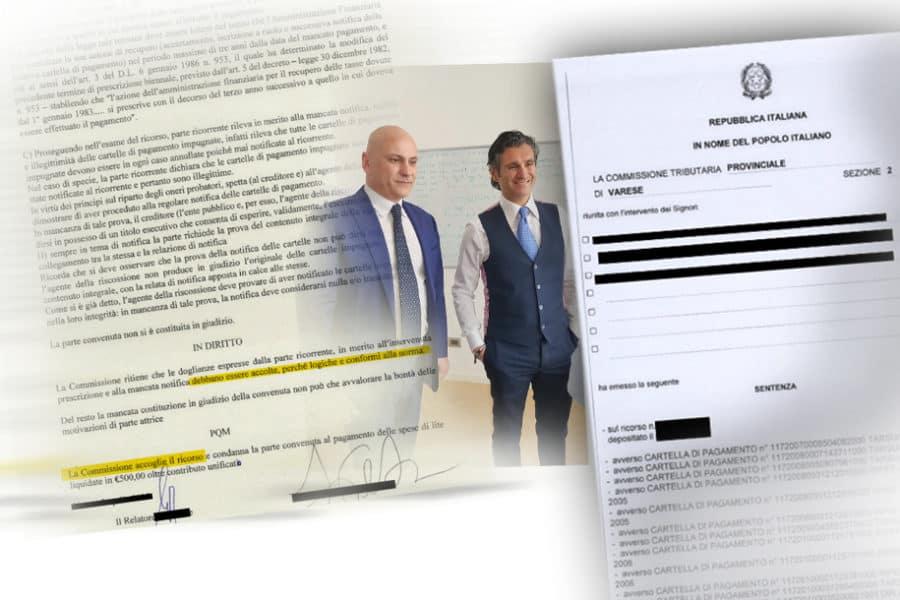 Carlo Carmine, Sentenza intimidazione pagamento -CFC Legal Garanti Del Contribuente