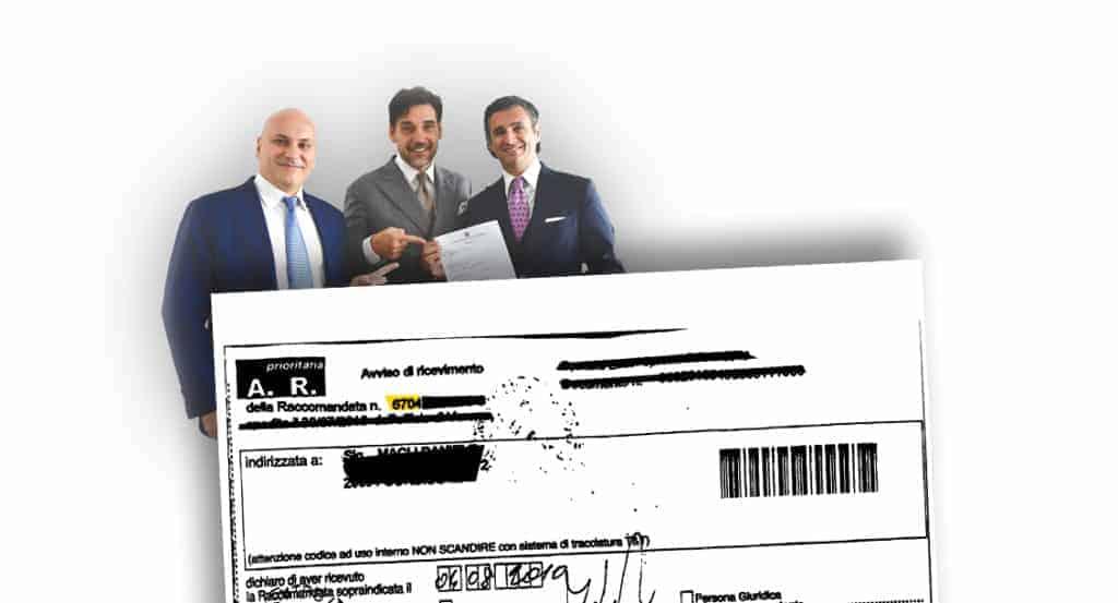 avviso di giacenza raccomandata - CFC Legal Garanti Del Contribuente