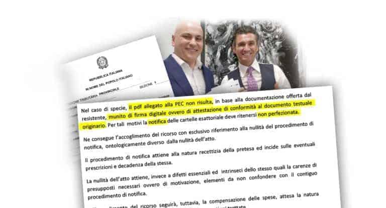 notifica pec -CFC Legal Garanti Del Contribuente