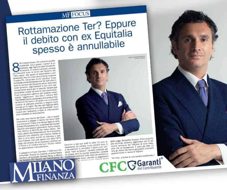 Milano Finanza intervista Carlo Carmine - CFC Legal Garanti Del Contribuente