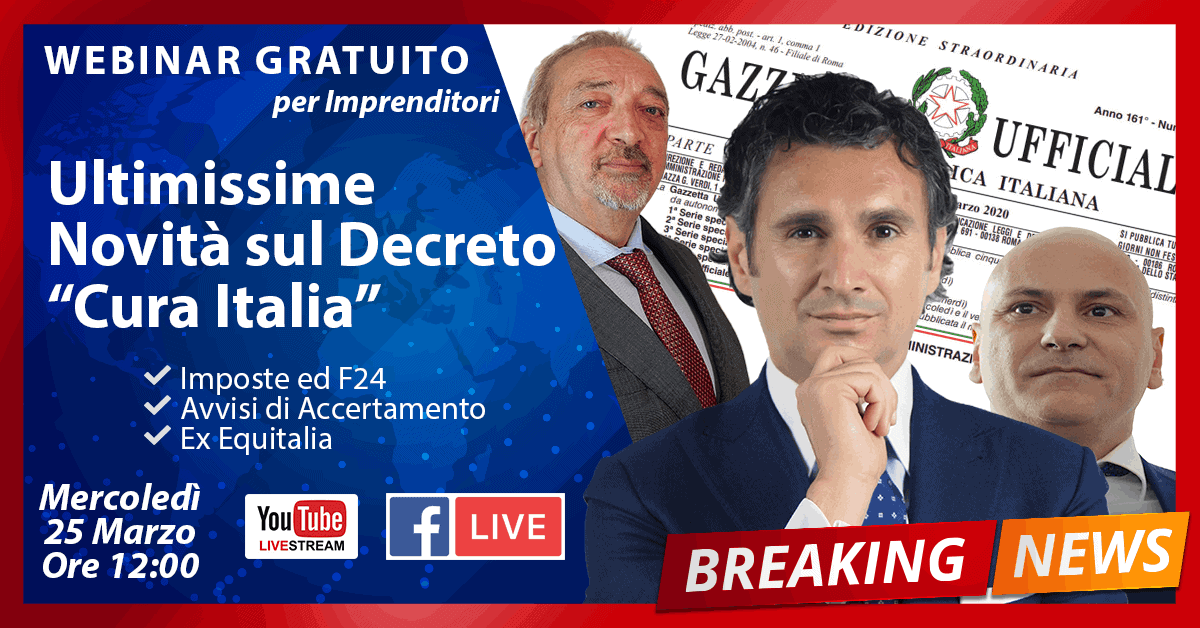 ultimissime decreto cura italia