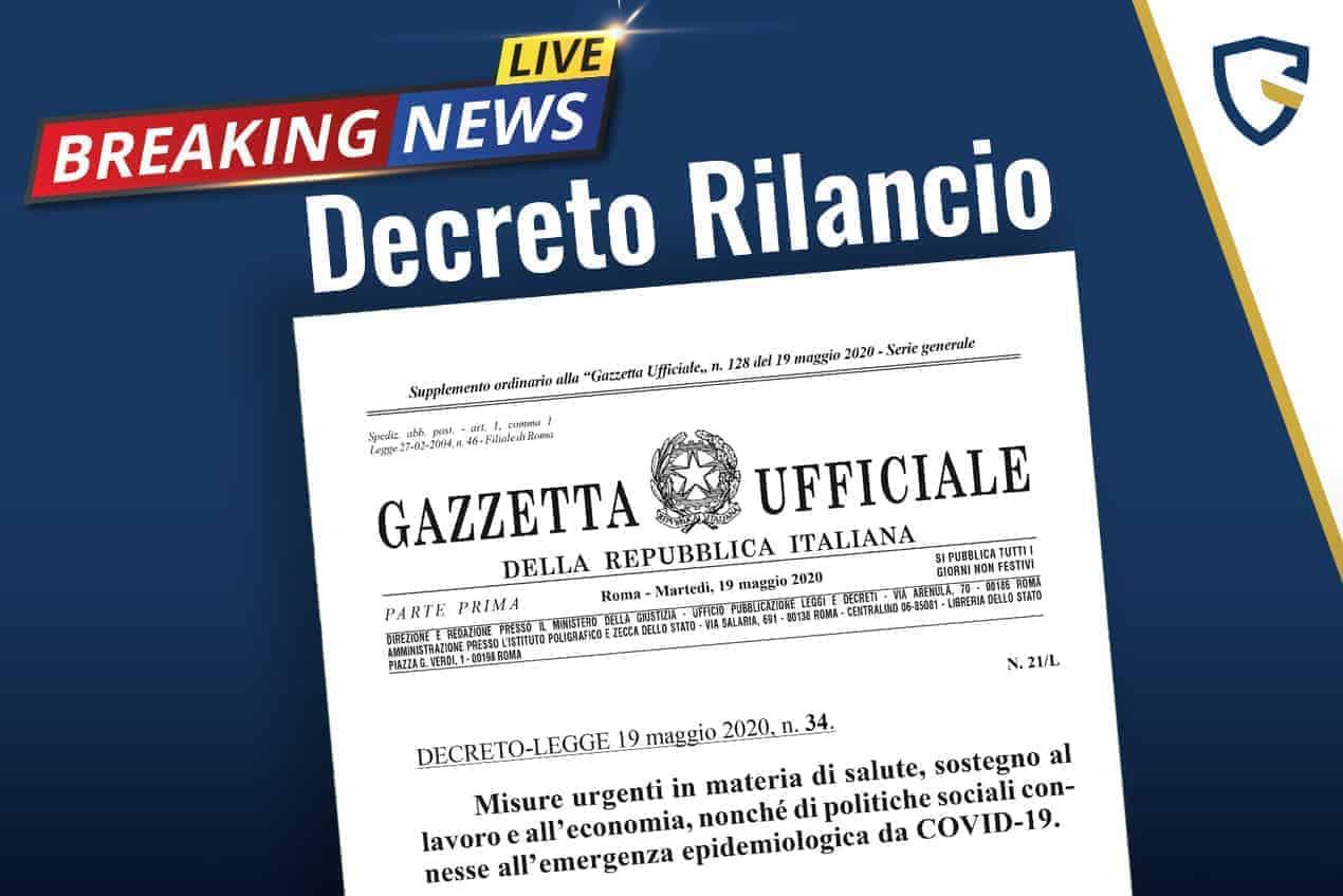 decreto rilancio in gazzetta ufficiale