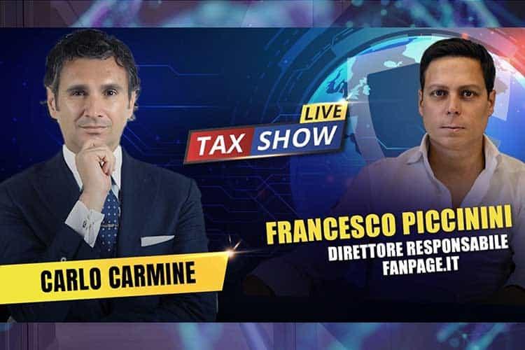 FanPage, TaxShowLive, rottamazione quater, ristori quater, cartelle esattoriali