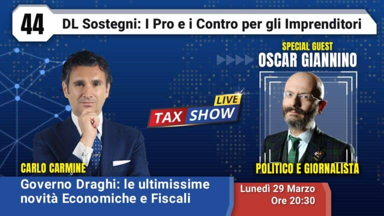 Tax Show Live con Oscar Giannino