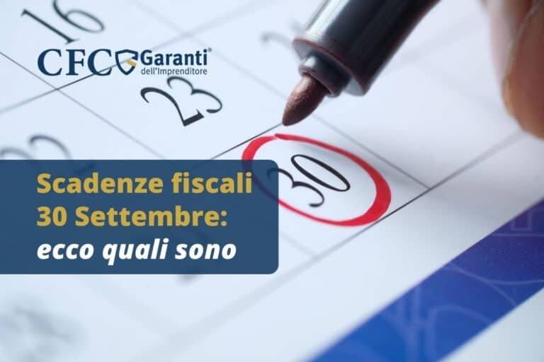 Scadenze fiscali 30 Settembre